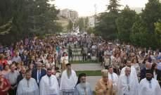آلاف المصلين استقبلوا ذخائر القديسة ريتا في زحلة