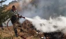 النشرة: فوج إطفاء صيدا أخمد حريقين مختلفين في القشلة والشرحبيل