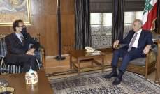 بري عرض مع فوشيه للتطورات العامة في لبنان والمنطقة والتقى بقرادوني