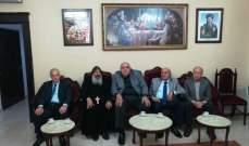 العميد مصطفى حمدان عزى الأب رويس الأورشليمي بضحايا الأعمال الارهابية بمصر