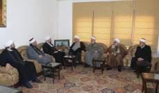 الشيخ قبلان التقى وفداً من تجمع علماء المسلمين