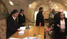 راهبات العائلة المقدسة أحيت الاستقلال على ضريح البطريرك الحويك في عبرين