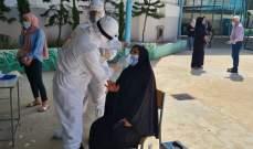 وحدة الكورونا بمستشفى الهمشري تفحص مخالطين في مخيم البداوي