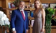 عميد الخارجية في القومي التقى سفيرة سويسرا في لبنان