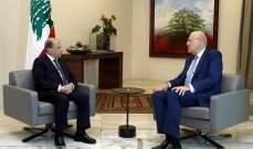"""الرئيس عون يلتقي رئيس كتلة """"الوسط المستقل"""" نجيب ميقاتي"""