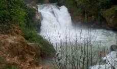 النشرة: إنهيارات ترابية وسيول وأمطار بالنبطية وارتفاع منسوب المياه بنهري الليطاني والزهراني