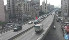 تصادم بين مركبتين على جسر الكولا باتجاه نفق سليم سلام