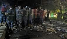 عودة المواجهات بين المحتجين والقوى الأمنية أمام منزل فهمي وتجدد رمي القنابل المسيلة للدموع
