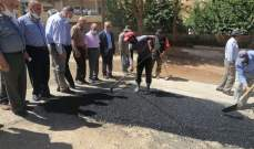 بلدية بعلبك أطلقت ورشة تأهيل الطرقات على نفقة حزب الله