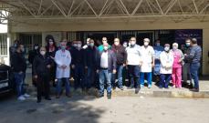 وقفة في مستشفى طرابلس حدادا على أطباء وعاملين سقطوا ضحايا كورونا