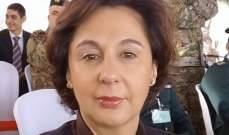 رياشي بحثت مع فرونتسكا في دور الأمم المتحدة بمساعدة لبنان