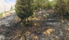 الدفاع المدني: إخماد حرائق أعشاب في شارون ودنكة وبعقلين ويانوح