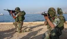 رئيس الأركان في الجيش تفقد فوج مغاوير البحر في عمشيت
