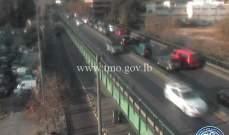 تصادم بين سيارتين على جسر الفيات باتجاه العدلية