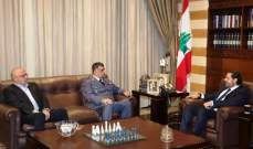 الحريري التقى عثمان وحمود وأثنى على جهود قوى الأمن للحفاظ على أمن المواطنين