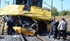 مقتل 17 شخصا جراء اصطدام حافلة ركاب بقطار بالقرب من فلاديمير الروسية