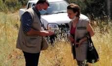 فريق من وزارة الزراعة كشف على احراج سنديان البترون بعد انتشار حشرة جاذوب
