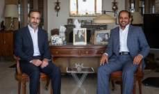 معوض يستقبل السفير الإماراتي وتباحث بالوضع الإنمائي والسياسي