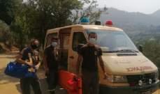الدفاع المدني: إنقاذ مواطن جراء سقوطه في وادي نهر يحشوش