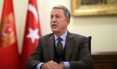 """آكار: القضاء على 143 """"إرهابيا"""" خلال العمليات التركية شمالي العراق منذ أيار"""