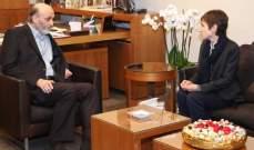 جعجع بحث مع جيرار ملف النازحين في لبنان