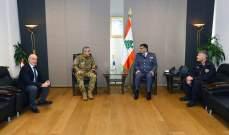 عثمان يستقبل الملحق العسكري لدى السفارة الإيطالية عارضاً الاوضاع العامة