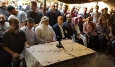 سليمان مثّل الحريري بتشييع عمر غصن: لن نسمح لأحد بأن يجرنا للفتنة وبأن يعتدي علينا