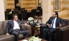 الحريري عرض وسفير قبرص العلاقات الثنائية
