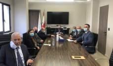 وزني التقى وفداً من أعضاء المجلس التنفيذي لاتحاد نقابات موظفي المصارف في لبنان