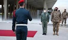 رئيس أركان الدفاع الإيطالي: على الشعب اللبناني أن يفخر بجيشه