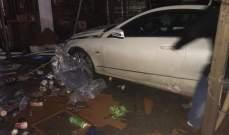 سيارة اقتحمت مقهى وتسببت بأضرار جسيمة في صيدا