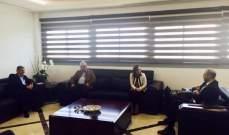 حسن استقبل وزيرة الشباب مع وفد من لجنة الإرشاد والوقاية من كورونا