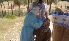 المفوضية العليا لشؤون النازحين السوريين تنظم حملة فحوصات pcr للنازحين بمخيم مرج الخوخ