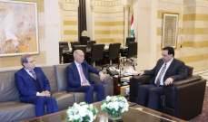دياب التقى النائبين السابقين نبيل نقولا وعباس هاشم