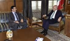 بري عرض للأوضاع مع نجار وتلقى برقيتين من رئيسَي مجلس الشورى في إيران وقطر