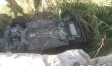 النشرة: إصابة شخص نتيجة سقوط سيارته إلى جانب الطريق عند مدخل الشرحبيل في بلدة بقسطا