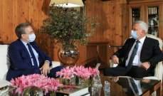 فرنجية بحث مع دوريل بموضوع تشكيل الحكومة: لتضافر الجهود للوصول بلبنان إلى بر الأمان