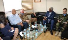 قائد اليونيفيل زار رئيس اتحاد بلديات وبحث في الوضع العام في الجنوب