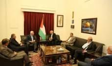 الاحمد يبحث مع ناجي اخر المستجدات على الساحة الفلسطينية