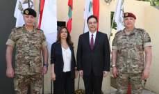 الجيش:دياب وعكر وقائد الجيش زاروا قطاع جنوب الليطاني ومقر اليونيفيل بالناقورة