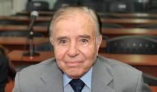 السجن 3 سنوات بحق الرئيس الأسبق للأرجنتين
