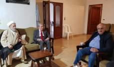 الخليل زار مفتي مرجعيون في حضور وزير المال