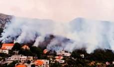 إخماد حريق غابة بريا في سقي رشميا بعدما تسبب بخسائر كبيرة