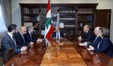 الرئيس عون استقبل وفداً من مستوردي الدواء في لبنان