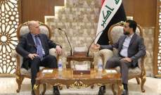 الحلبوسي والنجيفي أكدا ضرورة اختيار رئيس وزراء عراقي قادر على إدارة المرحلة المقبلة