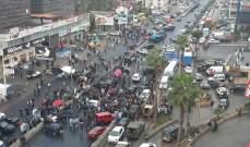 المتظاهرون حاولوا قطع الطريق الفرعية في الزوق لكن الجيش تدخل ومنعهم