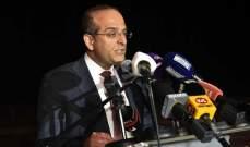 خوري خلال عشاء لنادي الصحافة: اليوم تمكنا من بسط سلطة الدولة على الأراضي اللبنانية