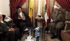 منسق عام جبهة العمل الاسلامي التقى رئيس المجلس السياسي في حزب الله