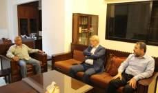 أسامة سعد يلتقي وفدا من حزب الله برئاسة محمود قماطي