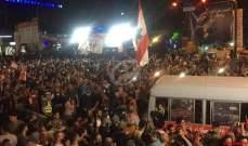 """النشرة: """"بوسطة الثورة"""" غادرت دوار ايليا في صيدا متجهة الى ساحة الشهداء"""
